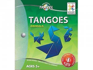 Tangram, Állatok (Smart Games, mágneses képkirakó úti játék, 5-99 év)