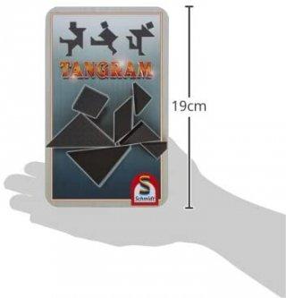 Tangram, fémdobozos logikai utazójáték (8-99 év)