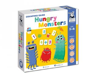 Tanulj meg számolni! Éhes szörnyek, Captain Smart matek tanulást segítő játék (3-6 év)