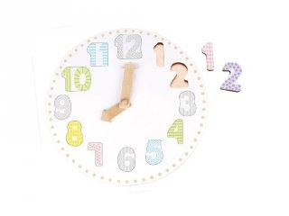 Tanuló óra fából kivehető számokkal, tanulást segítő játék (Jabadabado, 3-7 év)