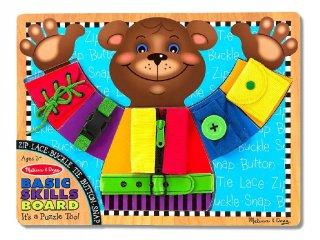 Tanuló tábla, Öltözködés (Melissa&Doug, 3784, fa puzzle oktató játék, 3-6 év)