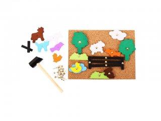 Tanyasi formatűző (Bigjigs, fa ügyességi játék,  3-7 év)