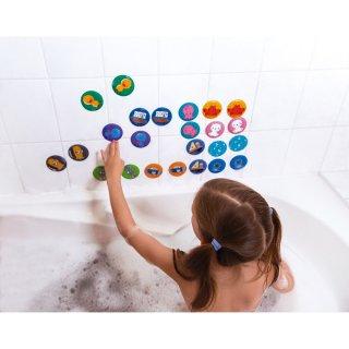 Tapassz a csempére! 24 db-os memóriajáték, Janod fürdőjáték (4714, 3-7 év)