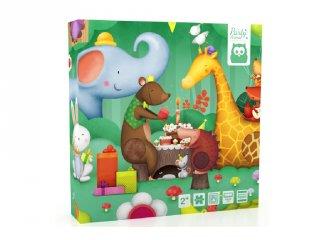 Tapintós kirakó állatokkal, 16 db-os bébi puzzle (2-4 év)
