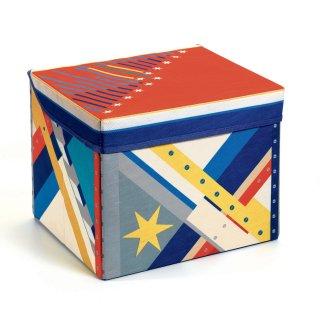 Tárolódoboz Rocket toy box, Djeco gyerekszoba kiegészítő - 4485