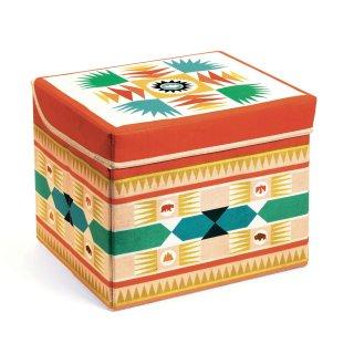 Tárolódoboz Teepee toy box, Djeco gyerekszoba kiegészítő - 4482