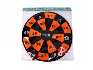 Tépőzáras 36 cm-es darts tábla, ügyességi játék (3-6 év)
