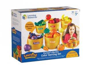 Termelői piac, játék óvodásoknak (3060, Learning Resources, színek tanítását segítő játék, 3-6 év)