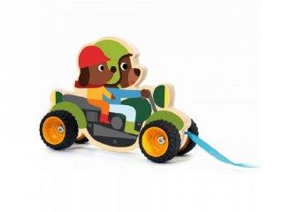 Terreno Bike Djeco húzós mozgásfejlesztő bébijáték fából - 6240 (1-3 év)