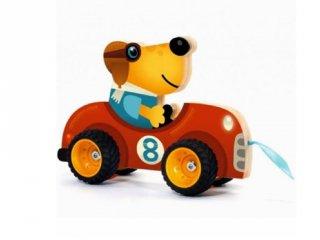 Terreno Car Djeco húzós mozgásfejlesztő bébijáték fából - 6241 (1-3 év)