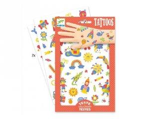 Tetoválás, Cukiságok (Djeco, 9589, bőrbarát tetkó, 3-10 év)