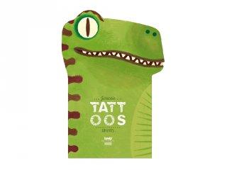 Tetoválás Dínók, 10 db bőrbarát tetováló matrica