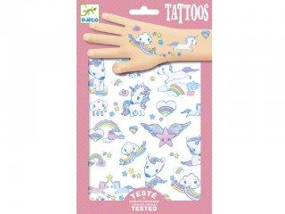 Tetoválás, Egyszarvúak (Djeco, 9575, bőrbarát tetkó, 3-10 év)