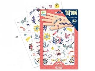 Tetoválás, Foszforeszkáló, Édes álom (Djeco, 9592, bőrbarát tetkó, 3-10 év)
