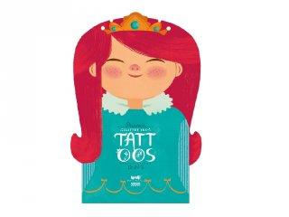 Tetoválás Hercegnők, 10 db bőrbarát tetováló matrica