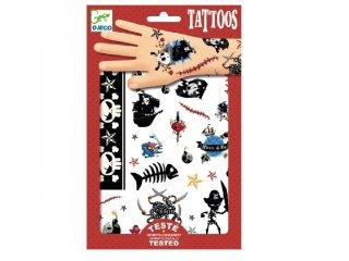Tetoválás, Kalózok (Djeco, 9584, bőrbarát tetkó, 3-10 év)