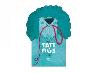 Tetoválás Kutyák, 10 db bőrbarát tetováló matrica