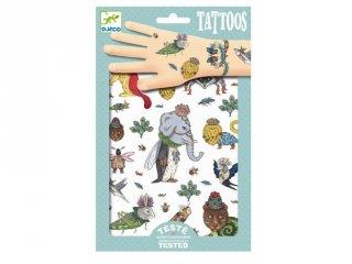 Tetoválás, Lehetetlen bestiák (Djeco, 9580, bőrbarát tetkó, 3-10 év)