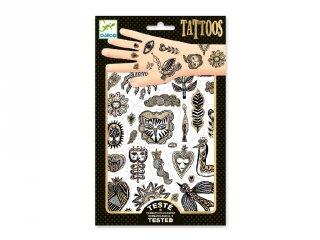 Tetoválás metálfényű So Chic, Djeco bőrbarát tetkó - 9595