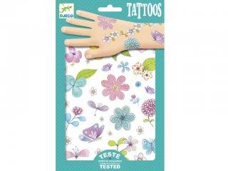 Tetoválás, Mezők virágai (Djeco, 9585, bőrbarát tetkó, 3-10 év)