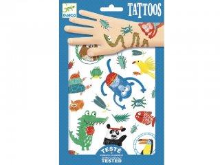 Tetoválás, Orrok (Djeco, 9576, bőrbarát tetkó, 3-10 év)
