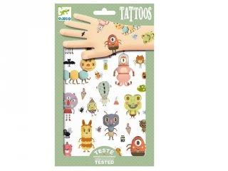 Tetoválás, Szörnyecskék (Djeco, 9581, bőrbarát tetkó, 3-10 év)