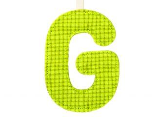 Textil betű, G (Lilliputiens, szobadekorációs kellék, 0-99 év)