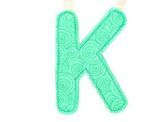 Textil betű, K (Lilliputiens, szobadekorációs kellék, 0-99 év)
