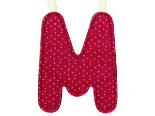 Textil betű, M (Lilliputiens, szobadekorációs kellék, 0-99 év)