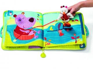 Textilkönyv, Ophélie az erdőben (Lilliputiens, applikációval is játszható bébijáték, 0-5 év)