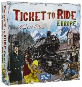 Ticket to Ride Europe, angol nyelvű változat (vonatos stratégiai társasjáték, 8-99 év)