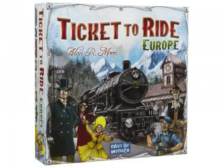 Ticket to Ride Europe Díjnyertes vonatos családi társasjáték (8-99 év)