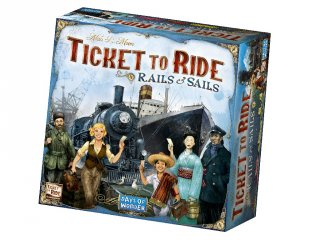 Ticket to Ride, Rails and Sails (vonatos, családi stratégiai társasjáték, 8-99 év)