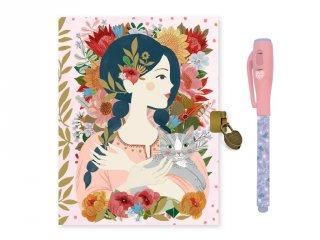 Titkos napló mágikus filctollal Oana, Lovely Paper Djeco, papír írószer - 3612