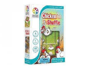 Tojó toló Jr. tili-toli puzzle, Smart Games (Chicken Scuffle, egyszemélyes logikai játék, 6-99 év)