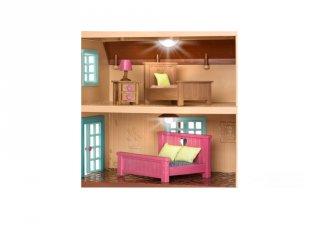 Tölgyerdei óriás kinyitható villa bútorokkal, Lil Woodzeez szerepjáték (3-6 év)