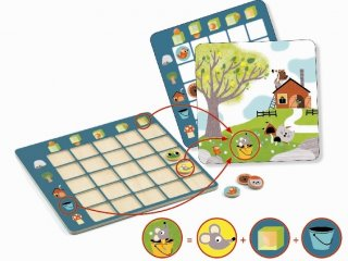Topologix  (Djeco, 8354, térlátást fejlesztő logikai játék, 3-7 év)