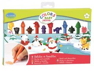 Törhetetlen zsírkréta készlet, Karácsony (Al, 12 db-os kreatív játék, 1-6 év)