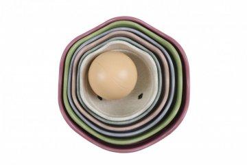 Toronyépítő gömbök, 7 db-os Öko építőjáték, babajáték (Magni, 6 hó-4 év)