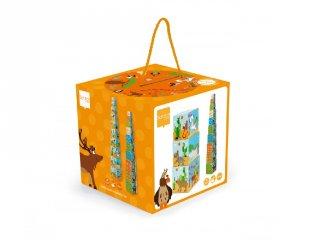 Toronyépítő kocka, A világ állatai, bébi építőjáték (Scratch, 1-3 év)