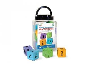 Törtek tanulását segítő kockajáték (91268, Learning Resources, 6-10 év)