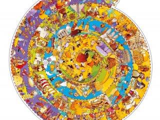 Történelmi, kör alakú puzzle (Djeco, 7458, 350 db-os részletgazdag puzzle, 6-99 év)