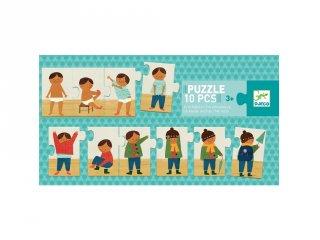 Történet puzzle, Öltözködés (Djeco, 8178, 10 db-os kirakó, 2-5 év)