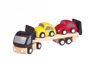 Tréler kocsikkal, autós szerepjáték fából (3-7 év)