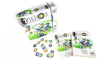 Trilos, egyszemélyes színpárosító logikai játék (8-99 év)