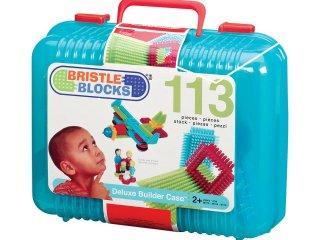 Tüskejáték bőröndben (Bristle Blocks, 113 db-os kreatív építőjáték, 1,5-5 év)
