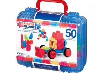 Tüskejáték bőröndben (Bristle Blocks, 50 db-os kreatív építőjáték, 1,5-5 év)