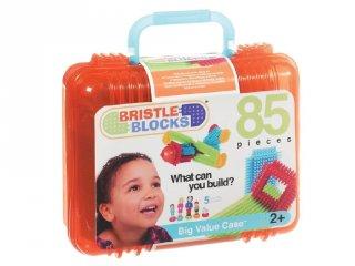 Tüskejáték bőröndben, Bristle Blocks 85 db-os kreatív építőjáték (1,5-5 év)