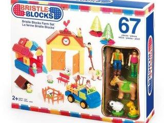 Tüskejáték, Farm szett (Bristle Blocks, 67 db-os kreatív építőjáték, 1,5-5 év)