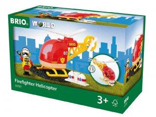 Tűzoltó helikopter (Brio, 33797, vonatos fajáték, 3-10 év)